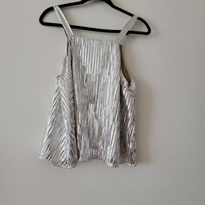 Anthropologie Maeve Silver Tank